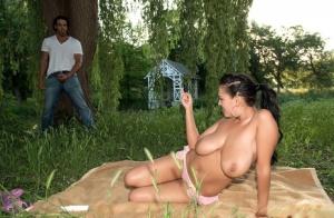 Huge Outdoor Tits